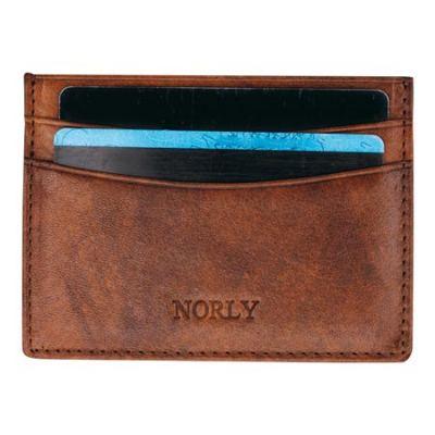 Norly Three Pocket Læder Kortholder (Brun)